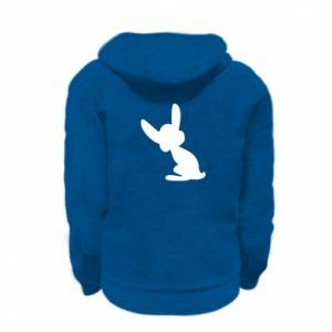 Kid's zipped hoodie % print% Shadow of a Bunny