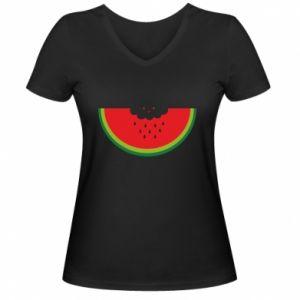 Damska koszulka V-neck Cloud of watermelon