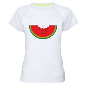 Damska koszulka sportowa Cloud of watermelon