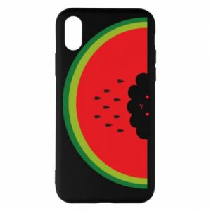 Etui na iPhone X/Xs Cloud of watermelon