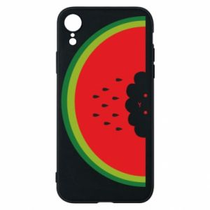 Etui na iPhone XR Cloud of watermelon