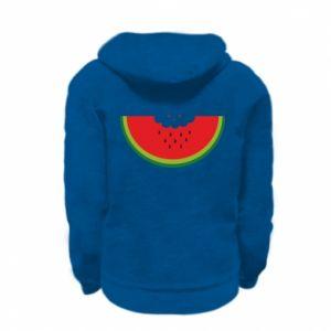 Kid's zipped hoodie % print% Cloud of watermelon
