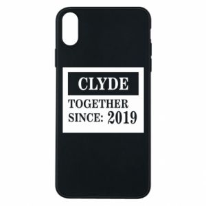 Phone case for iPhone Xs Max Clyde Together since: 2019 - PrintSalon