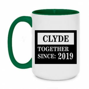 Two-toned mug 450ml Clyde Together since: 2019