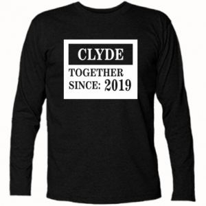 Long Sleeve T-shirt Clyde Together since: 2019 - PrintSalon
