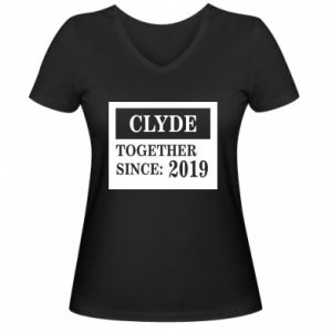 Women's V-neck t-shirt Clyde Together since: 2019