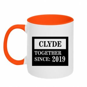 Two-toned mug Clyde Together since: 2019 - PrintSalon