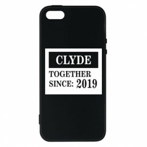 Phone case for iPhone 5/5S/SE Clyde Together since: 2019 - PrintSalon