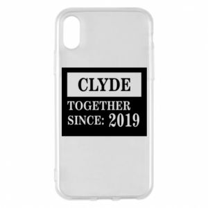 Phone case for iPhone X/Xs Clyde Together since: 2019 - PrintSalon