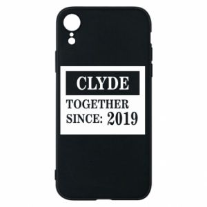 Phone case for iPhone XR Clyde Together since: 2019 - PrintSalon