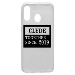 Phone case for Samsung A40 Clyde Together since: 2019 - PrintSalon