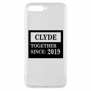 Phone case for Huawei Y6 2018 Clyde Together since: 2019 - PrintSalon