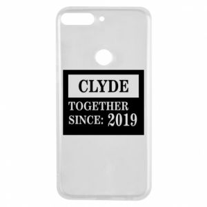 Phone case for Huawei Y7 Prime 2018 Clyde Together since: 2019 - PrintSalon