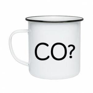 Enameled mug WHAT? Polish version