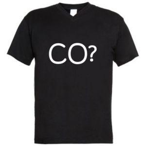 Męska koszulka V-neck CO?