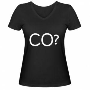 Damska koszulka V-neck CO?