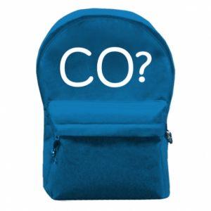 Plecak z przednią kieszenią CO?