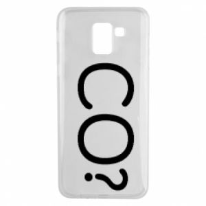 Phone case for Samsung J6 WHAT? Polish version