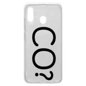 Phone case for Samsung A30 WHAT? Polish version
