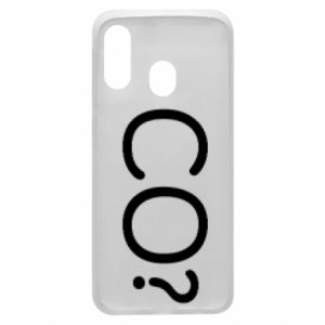 Phone case for Samsung A40 WHAT? Polish version