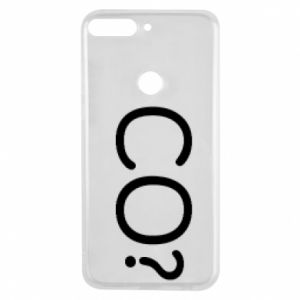 Phone case for Huawei Y7 Prime 2018 WHAT? Polish version