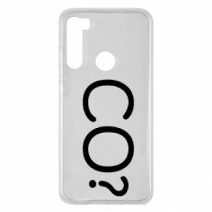 Xiaomi Redmi Note 8 Case WHAT? Polish version