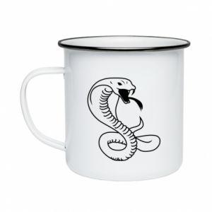 Enameled mug Cobra