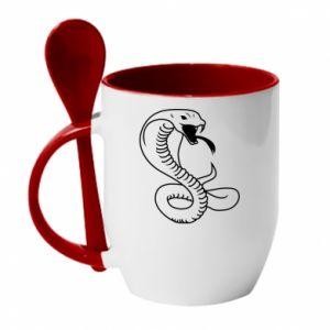 Mug with ceramic spoon Cobra