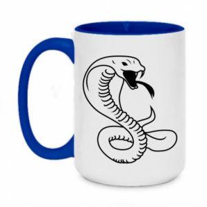 Two-toned mug 450ml Cobra