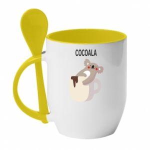 Kubek z ceramiczną łyżeczką Cocoala