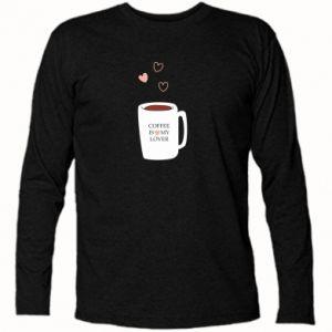 Koszulka z długim rękawem Coffee is my lover