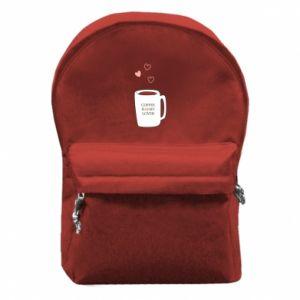 Plecak z przednią kieszenią Coffee is my lover