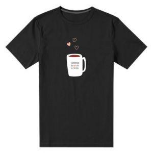 Męska premium koszulka Coffee is my lover