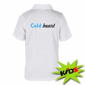 Dziecięca koszulka polo Cold heart