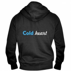 Męska bluza z kapturem na zamek Cold heart