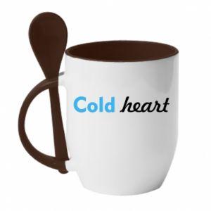 Kubek z ceramiczną łyżeczką Cold heart