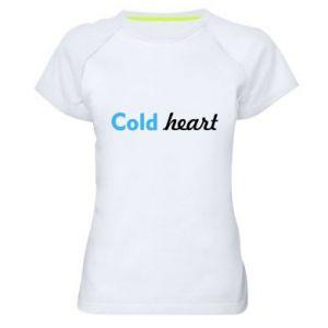 Damska koszulka sportowa Cold heart