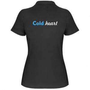 Koszulka polo damska Cold heart