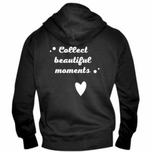 Męska bluza z kapturem na zamek Collect beautiful moments