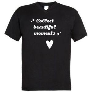 Męska koszulka V-neck Collect beautiful moments