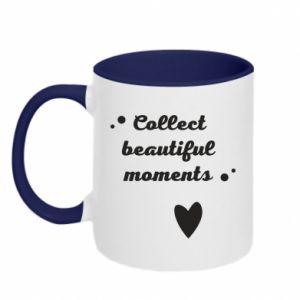Kubek dwukolorowy Collect beautiful moments