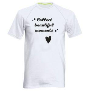 Męska koszulka sportowa Collect beautiful moments