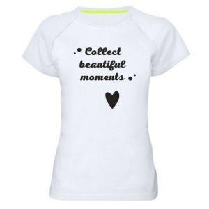 Damska koszulka sportowa Collect beautiful moments