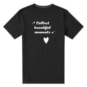Męska premium koszulka Collect beautiful moments