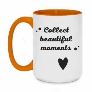 Kubek dwukolorowy 450ml Collect beautiful moments