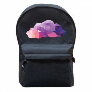 Plecak z przednią kieszenią Color cloud