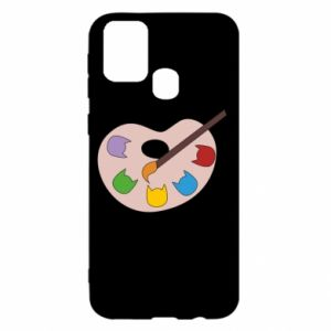 Etui na Samsung M31 Color palette with cats