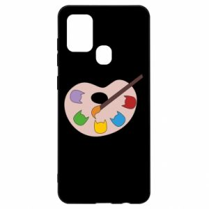 Etui na Samsung A21s Color palette with cats