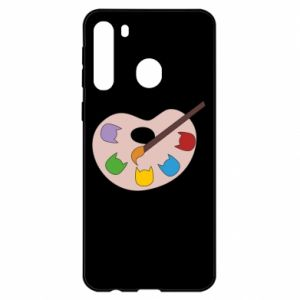 Etui na Samsung A21 Color palette with cats