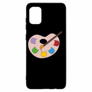 Etui na Samsung A31 Color palette with cats